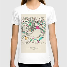 Colorful City Maps: Montreal, Canada T-shirt