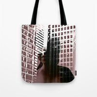 anonymous Tote Bags featuring anonymous by MehrFarbeimLeben