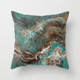 Water Flow, Abstract Acrylic Flow Art Throw Pillow