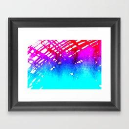 Performing color Framed Art Print