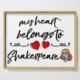 Heart Belongs to Shakespeare 2 (w/figure) Serving Tray