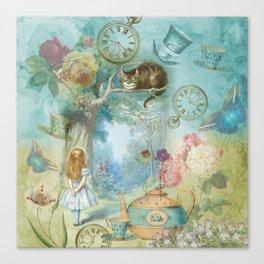Wonderland - Vintage Style Canvas Print