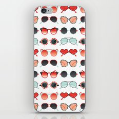 Sunglasses Collection – Red & Mint Palette iPhone & iPod Skin