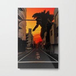 Tokyo Godzilla Metal Print