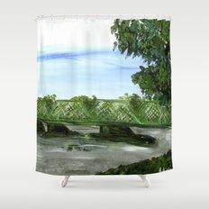 New Hope Lambertville Bridge Shower Curtain