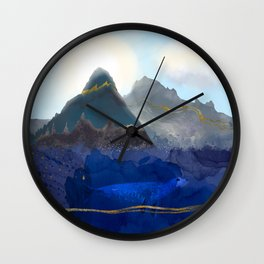 Seal Under a Melting Glacier Wall Clock