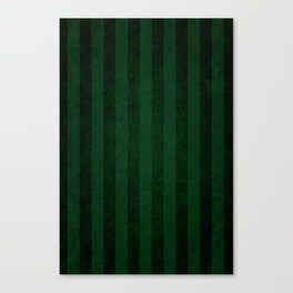 Emerald Stripes Canvas Print
