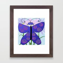The Butterfly With An Attitude Framed Art Print