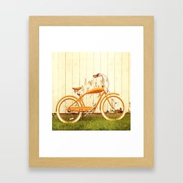 Orange Ride Framed Art Print