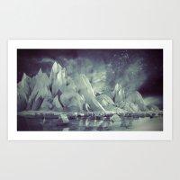 Lowpoly Mountains Art Print