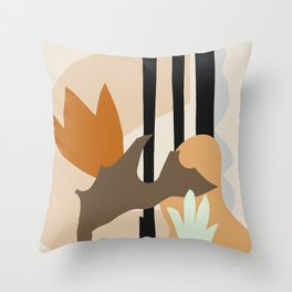 Shapes and Blossoms #shapeart #digitalart Throw Pillow