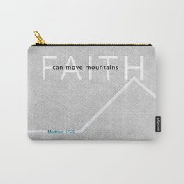 Faith Moves Mountains Carry-All Pouch