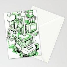 Green Machine Car Stationery Cards