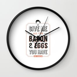 Bacon Wall Clock
