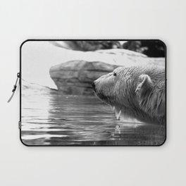 Polar Bear Stare Laptop Sleeve