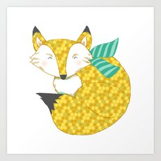 Fashionable Fox Art Print