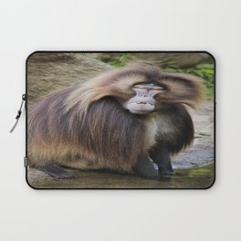 Baboon Looking At me Laptop Sleeve