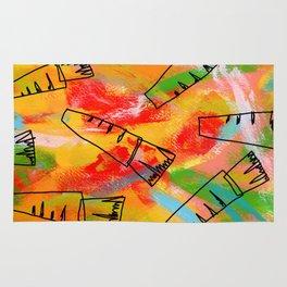 Food Illustration Carrots Pattern Vegetable Painting Rug