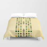 flora Duvet Covers featuring Flora by Diogo Verissimo