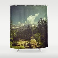 italian Shower Curtains featuring Italian Mountains by Dirk Wuestenhagen Imagery