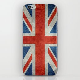Square Union Jack retro style, made for the Pillows, Duvets and Shower curtains iPhone Skin