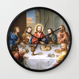 The Last Supper - 17th centuy old oil painting Wall Clock