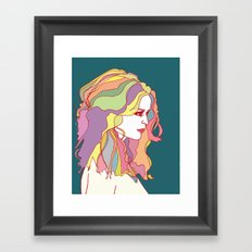 Big Hair day Framed Art Print