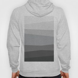 A Long Way to the Top - geometric adventure through grayscale Hoody