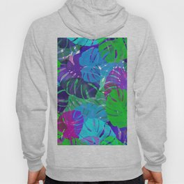 monstera leaves tropical Hoody