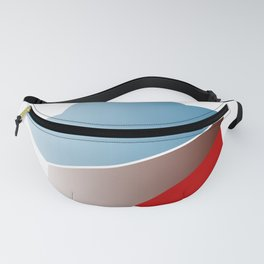 Ombre red white and blue star Fanny Pack