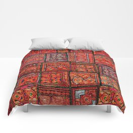 V5 Red Traditional Moroccan Design - A3 Comforters