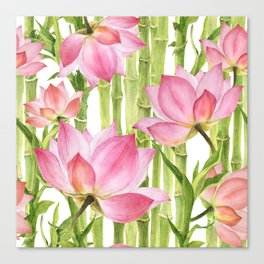 Tropical floral pattern #2 Canvas Print