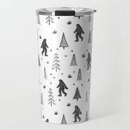 trees + yeti pattern Travel Mug