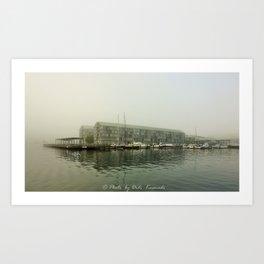Foggy Pyrmont Art Print