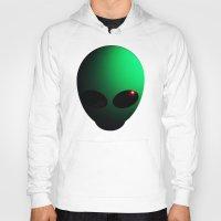 alien Hoodies featuring Alien by Nicklas Gustafsson