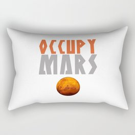 OCCUPY MARS Rectangular Pillow