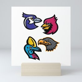 Bird Wildlife Mascot Collection Mini Art Print