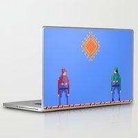 luigi Laptop & iPad Skins featuring Mario vs Luigi by BryanM