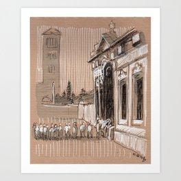 Epier Pierre Rome Piazza dei Cavalieri di Malta Art Print