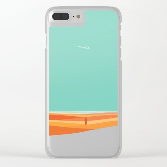 Where the sea meets the sky Clear iPhone Case