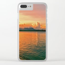 Pure Sunset Clear iPhone Case