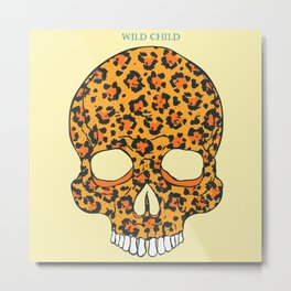 Wild Child Skull Metal Print