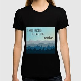 Face This Mountain (Jon Foreman Lyrics Illustration) T-shirt
