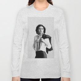 Frida Kahlo Wearing White Shirt Long Sleeve T-shirt