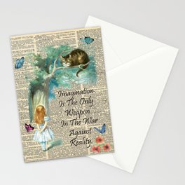 Alice In Wonderland Quote - Imagination - Dictionary Page Stationery Cards
