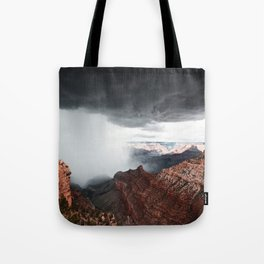 a storm in the grand canyon Tote Bag