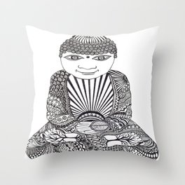 Zen Buddha Throw Pillow