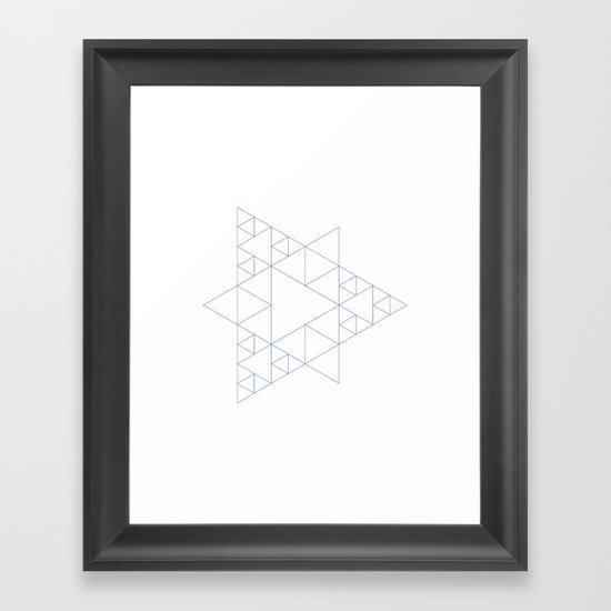 #377 Triangular architecture – Geometry Daily Framed Art Print