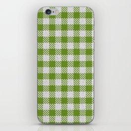 Olive Drab Buffalo Plaid iPhone Skin