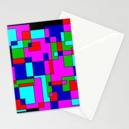 rectangles on black -a- Stationery Cards
